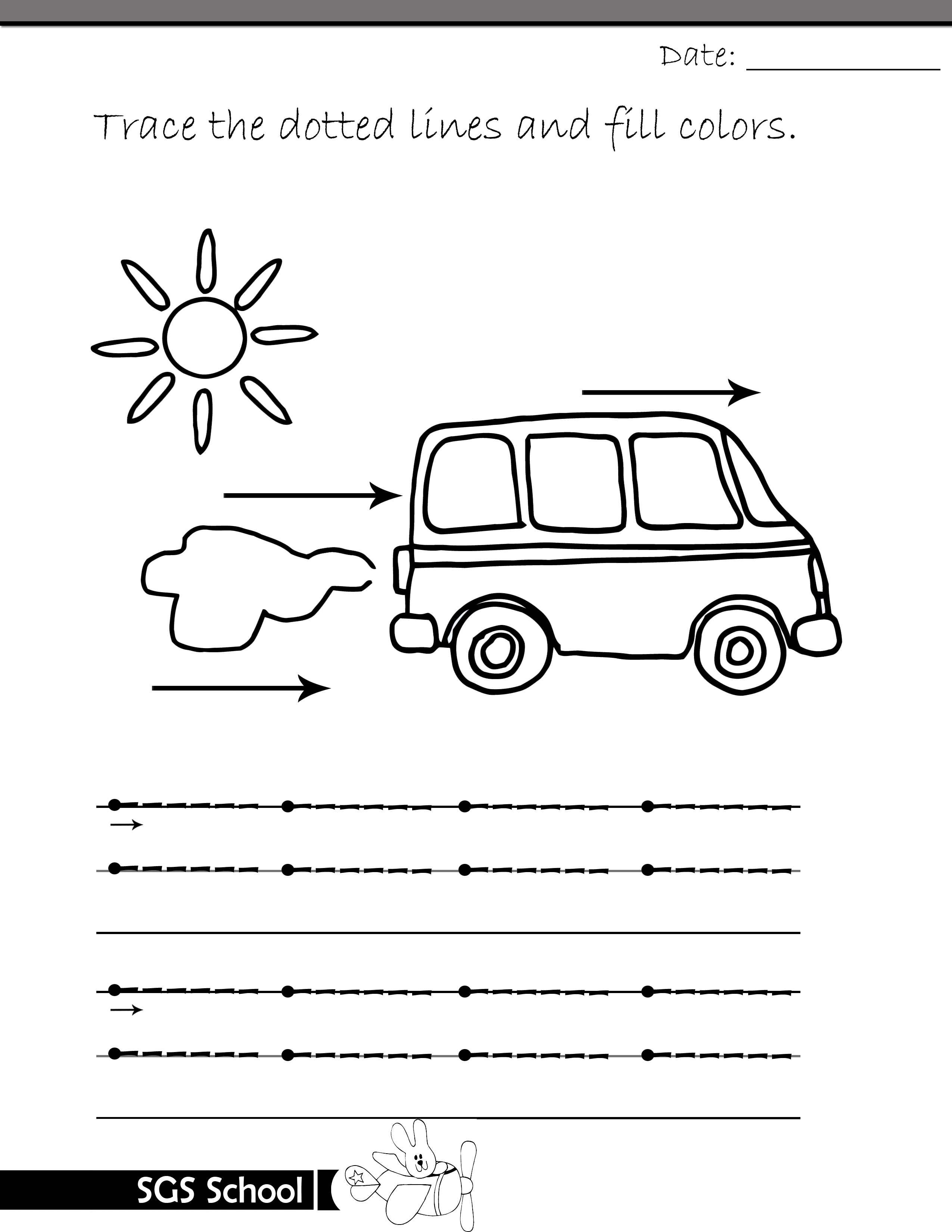 Free Printable Tracing and Drawing Worksheets Playgroup ...
